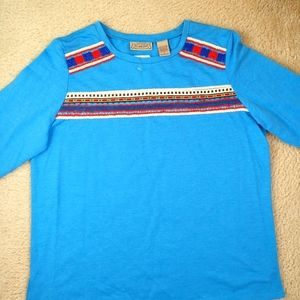 Art and Soul Blue Top Size M